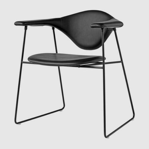 Gubi dining chair masculo black leather desk chair multi purpose