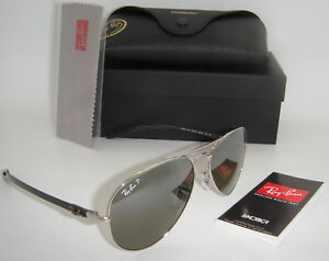 2d7708354f8 Details about New Ray-Ban RB 8317CH 003 5J 58mm Silver Frame Grey Mirror  Polarized Chromance
