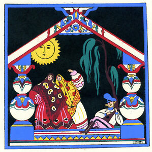 1930s-French-Pochoir-Print-Edouard-Halouze-Russian-Folk-Dance-Balalaika-Player