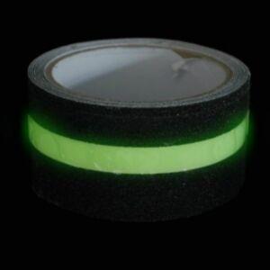 Black Grit Anti Slip Tapes with photoluminescent stripe/ antiscivolo doppio uso