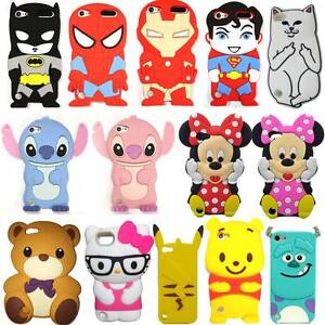 best loved 4125a 4f490 Details about 3D Cartoon Characters Animal Soft Silicone Phone Case for  iPod touch 5 touch 6