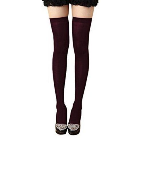 Extra long white thigh high socks over knee school girl tall large overknee UK L