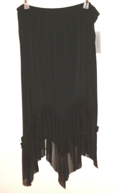183b144d36 Adrianna Papell Evening Essentials Black Plus Size Ruffle Skirt Womens Sz  3X New