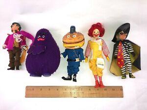 Vintage Lot 5 McDonald's Dolls By Remco 1970's inc Captain Crook!