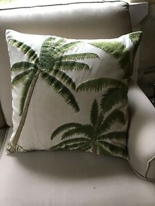 Pottery Barn Embroidered 24 Quot X 24 Quot Palm Tree Pillow Covers