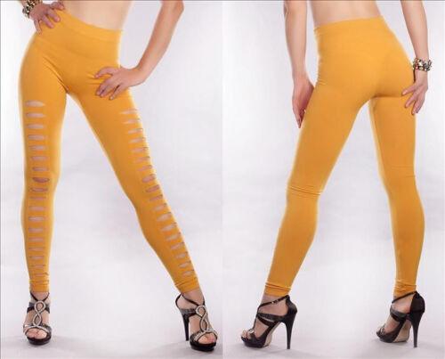 Destroy Stylische Damen Leggings Punk Look  mit Löcher farben LG851