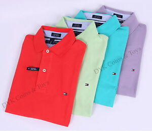 NWT-TOMMY-HILFIGER-MEN-039-S-CUSTOM-FIT-JERSEY-GOLF-SOLID-POLO-SHIRT-FREE-SHIPPING