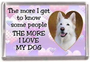 German-Shepherd-Dog-Fridge-Magnet-034-THE-MORE-I-LOVE-MY-DOG-034-No-3-by-Starprint