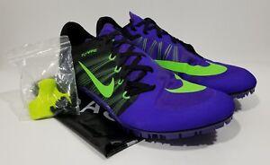 45a9eb88f603 Nike Zoom JA Fly 2 Mens Track   Field Spikes Purple Black Size 11.5 ...