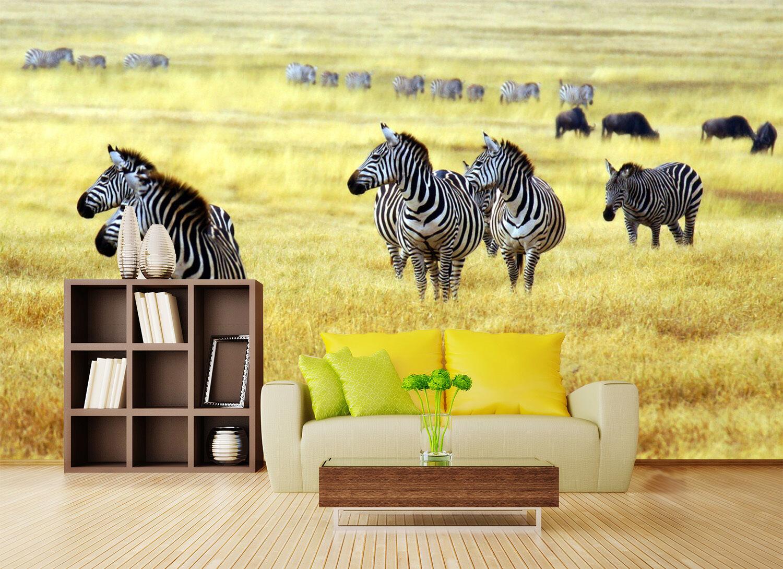 3D Zebra Animal Nature 455 Wall Paper Wall Print Decal Wall AJ WALLPAPER CA