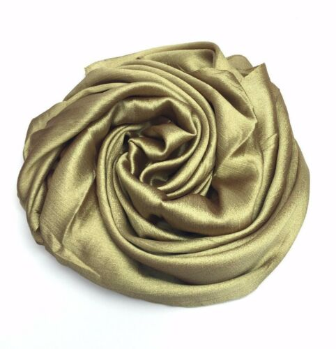 Crystal fabric Hijab plain scarf wrap occasion Party top quality Eid