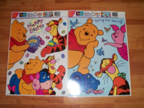 "Winnie the Pooh Easter Clings 15/"" x 12/""  Paper Magic Disney NOS U Pick not a Lot"