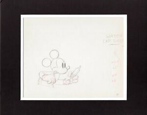 Mickey-Mouse-1937-Production-Animation-Cel-Drawing-Disney-The-Worm-Turns-27
