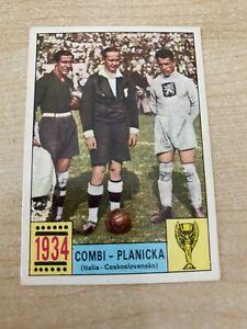 PANINI MEXICO 70 ORIGINAL COMI-PLANICKA 1934 UNUSED STICKER RED-BLACK BACK