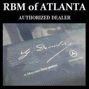 Genuine-Mercedes-Benz-G-Daimler-Signature-Windshield-Sticker-Decal-Clear-Label