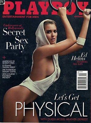 Aggressiv Playboy (us) 9,09/2015 September,heather Depriest,monica Sims,s Gupta,neuwertig! Eine GroßE Auswahl An Farben Und Designs
