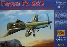 Payen Pa 22/2, 1:72, kit di plastica, RS-Models, NUOVO, Luftwaffe, Francia