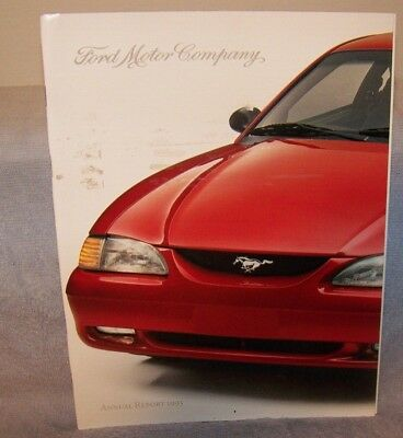 1993 Ford Lincoln Mercury Annual Report Pure White And Translucent Transportation