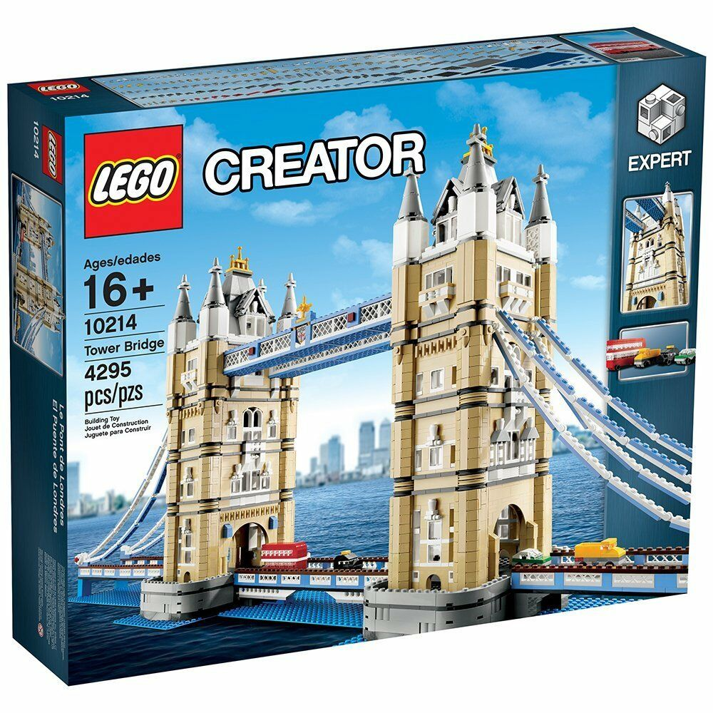 10214 LEGO CREATOR TOWER BRIDGE 4295 PEZZI +16 ANNI SIGILLATO ORIGINALE
