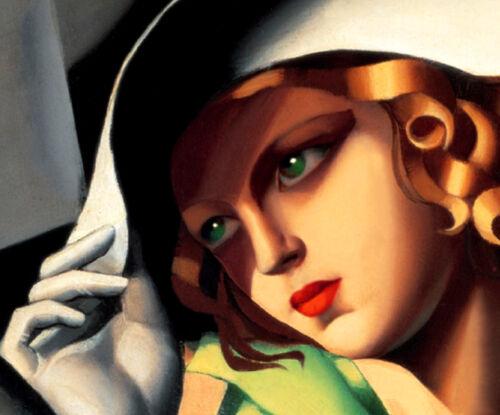 Tamara de Lempicka YOUNG GIRL in GREEN Art Deco High Fashion Design Poster 211