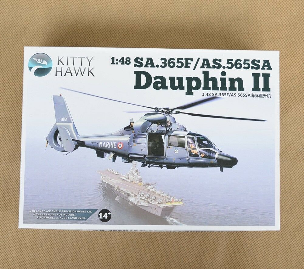 Brand New Unassembled PS Plastic 1 48 SA.365F AS.565SA Dauphin II Model Kit