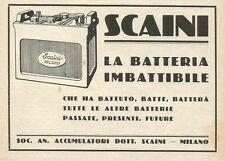 W0963 Batteria per auto SCAINI - Pubblicità 1931 - Advertising