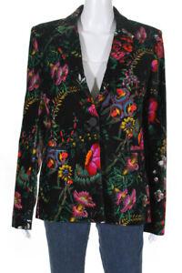 Paco-Rabanne-Womens-Velvet-Beverly-Hills-Blazer-Multi-Colored-Size-EUR-40