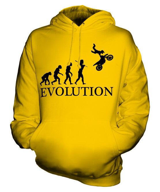 MOTOCROSS STUNT EVOLUTION OF MAN UNISEX HOODIE MENS WOMENS LADIES GIFT MOTO X