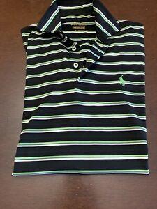 L-K-EUC-Men-039-s-Ralph-Lauren-Performance-Stripe-Polo-Golf-Shirt-Sz-S