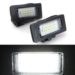2X-Error-Free-LED-License-Plate-Light-Lamp-For-Audi-A4-B8-A5-S5-TT-Q5-PASSAT-R36