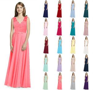 New Lace Princess Flower Girl dress Junior Wedding Bridesmaid dress 2-16 years