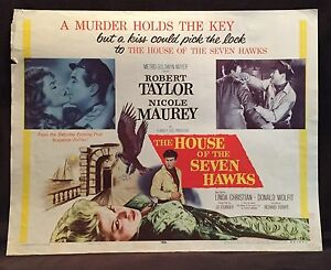 Details about Original 1959 THE HOUSE OF SEVEN HAWKS Half Sheet Movie  Poster 22 x 28 R TAYLOR