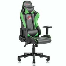 Ergonomic Computer Gaming Chair Racing Style Recliner Swivel Office Chairgreen