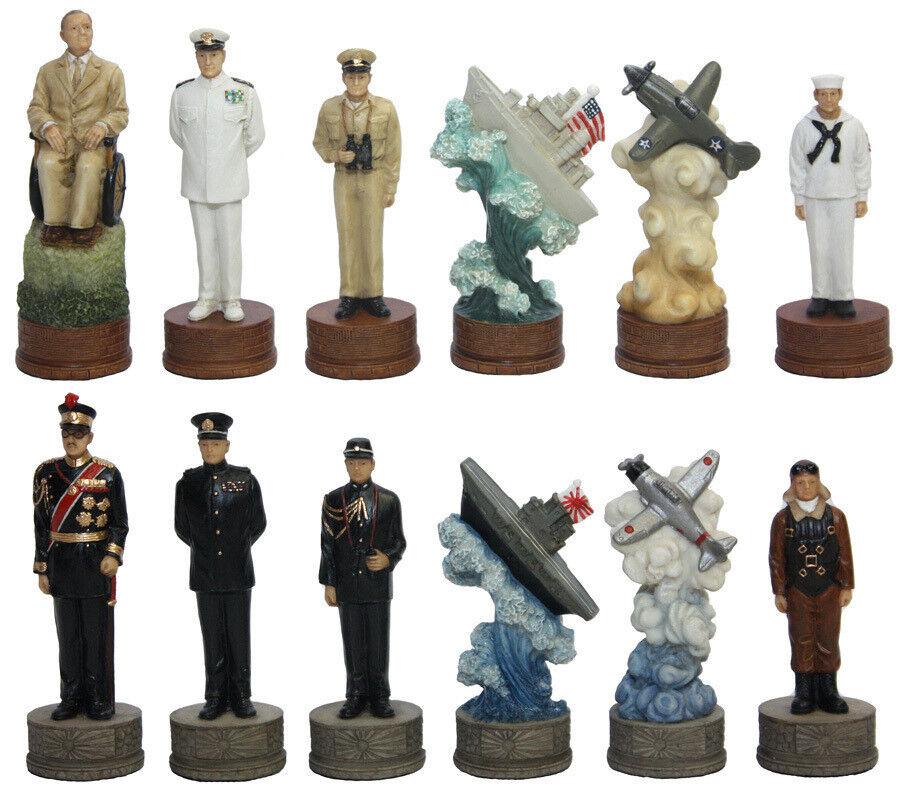 Chess set pieces American World War 2 plus grande  génération Pacifique Neuf 3 1 4  Kings  livraison gratuite!