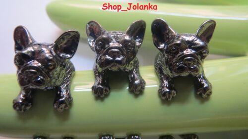 FRENCH BULLDOG RING  Französisch Bulldog athrazit black gun Farbe mit Box