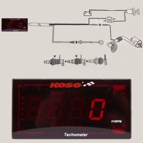 Motorcycle Red Backlight LCD LED Digital Tachometer for Honda Yamaha Kawasaki HL