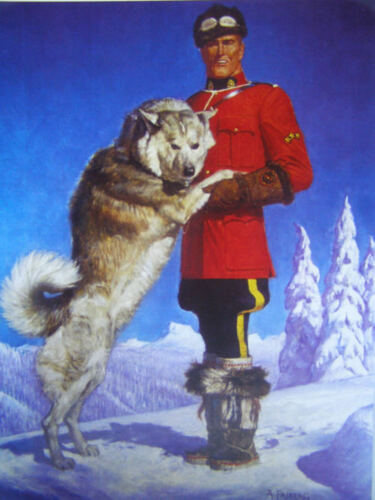Canadian Mountie RCMP Big Snow Dog Mountie