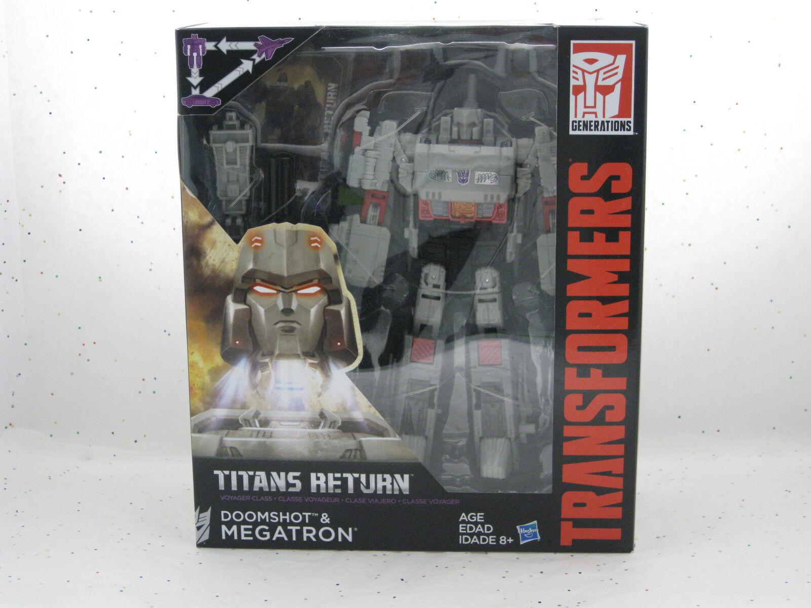 Megatron & Doomshot Titans Return  Transformers Triple Change Decepticon Hasbro