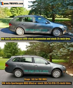Lift-Kit-for-VW-Golf-Sportwagen-Jetta-Wagon-Estate-MK5-MK6-One-Inch-Spacer-Kit
