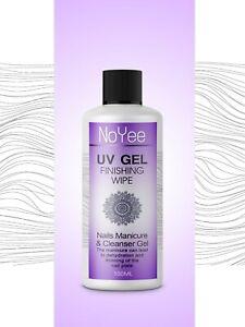UV-Nail-Gel-Finishing-Wipe-Sticky-Residue-Remover-Cleanser-Brush-Cleaner-100ml