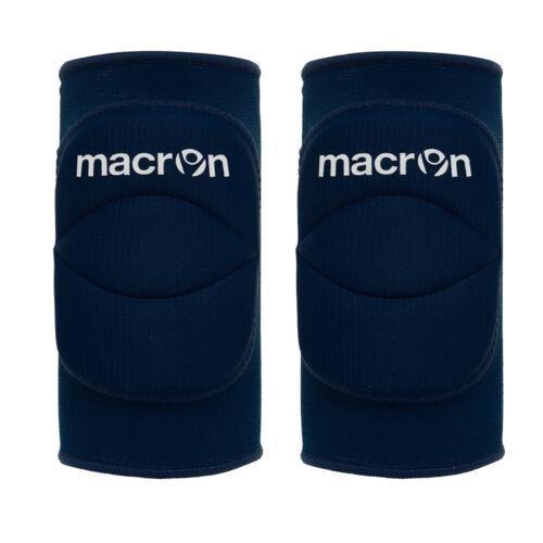 Coppia Ginocchiere Volley Pallavolo MACRON WALL Blue Imbottite elastiche