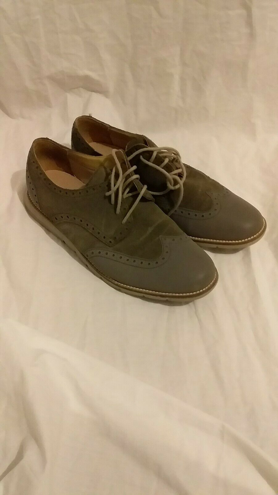 Colehaan grand OS grey suede brogues size 9.5 US
