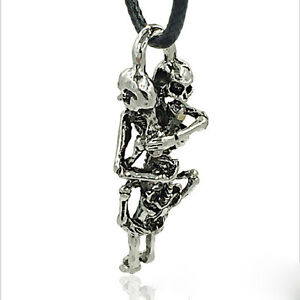 1-Herren-Tibetan-Silber-Edelstahl-Schaedel-Halskette-Kette-Anhaenger-Schmuck-NEU