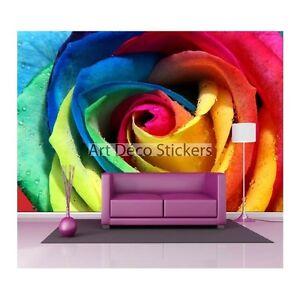 Stickers Muraux Geant Deco Rose Multicolore 1492 Ebay