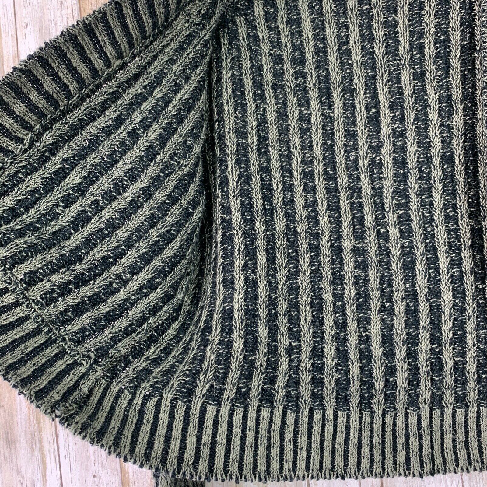 Inis Meain Linen Loose Knit Open Sweater Green Gr… - image 4