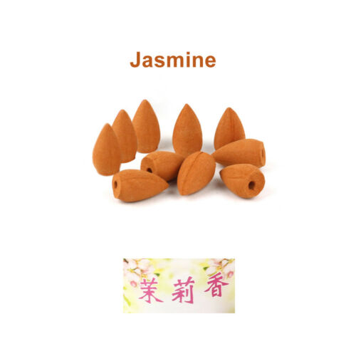 10pcs Natural Smoke Tower Cone Bullet Backflow Incense Hollow Cones Home Scent