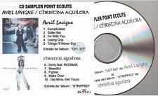AVRIL LAVIGNE CHRISTINA AGUILERA instore french promo cd sampler paper sleeve