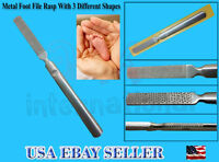 7 Metal Foot File Callus Remover Surface Foot File,double Side Using-top Notch