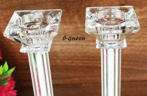 2 en 1 Cristal Cut swarvoskielement T-Light Chandelier Support X-MAS Boîte Cadeau