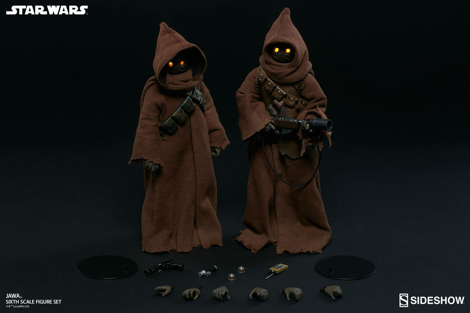 1 6 Scale Star Wars Jawa Set of 2 Figures by Sideshow Collectibles